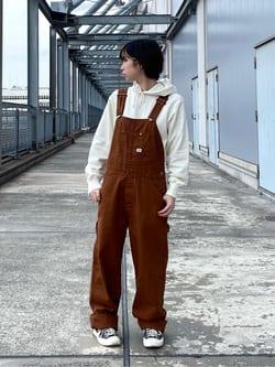 札幌パセオ店のAyapaNさんのLeeの【15%OFFクーポン対象】【年間ベストセラー】オーバーオールを使ったコーディネート