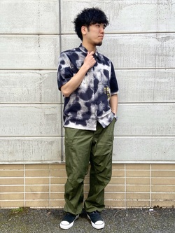 TOKYO HARAJUKU店のMale StaffさんのEDWINの【コンセプトショップ限定】EDWIN EUROPE PHOTO COPY SHIRTを使ったコーディネート