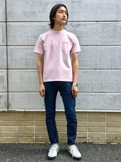 TOKYO HARAJUKU店のMale StaffさんのEDWINの【コンセプトショップ限定】GARMENT DYE TEEを使ったコーディネート