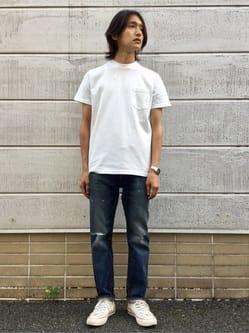 TOKYO HARAJUKU店のMale StaffさんのEDWINの【コンセプトショップ限定】POCKET TEEを使ったコーディネート