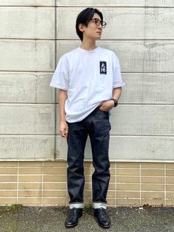 TOKYO HARAJUKU店のMale StaffさんのEDWINの【コンセプトショップ限定】EDWIN EUROPE TAROT DECK 1 TEEを使ったコーディネート