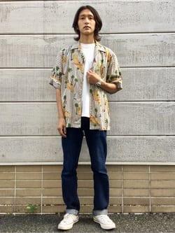 TOKYO HARAJUKU店のMale StaffさんのEDWINの【コンセプトショップ限定】EDWIN x reyn spooner VINTAGE RAYON SHIRTSを使ったコーディネート