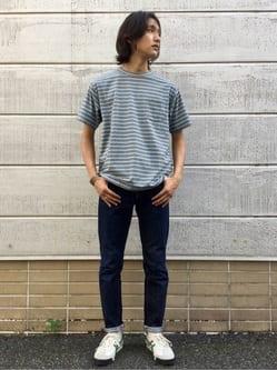TOKYO HARAJUKU店のMale StaffさんのEDWINの【SALE】【コンセプトショップ限定】BORDER TEEを使ったコーディネート