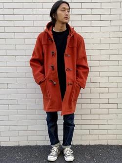 TOKYO HARAJUKU店のMale StaffさんのEDWINの【コンセプトショップ限定】DUFFEL COATを使ったコーディネート