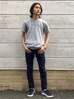 TOKYO HARAJUKU店のMale StaffさんのEDWINの【コンセプトショップ限定】REGULER STRAIGHT ボタンフライ 【レングス82cm】を使ったコーディネート