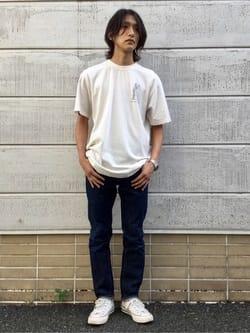TOKYO HARAJUKU店のMale StaffさんのEDWINの【SALE】【コンセプトショップ限定】EDWIN EUROPE SOUVENIR FROM JAPAN 2 TEEを使ったコーディネート