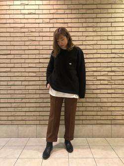 札幌パセオ店のChihiroさんのLeeの【再値下げ Winter sale】【ユニセックス】【やわらかフリース】プルオーバーを使ったコーディネート