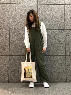 札幌パセオ店のChihiroさんのLeeのミリタリー オーバーオールを使ったコーディネート