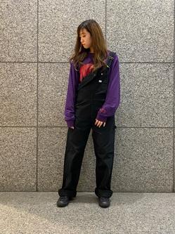 札幌パセオ店のChihiroさんのLeeの【年間ベストセラー】オーバーオールを使ったコーディネート