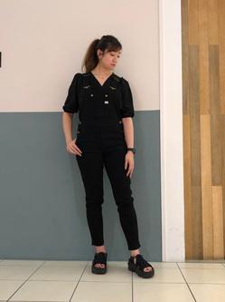 札幌パセオ店のChihiroさんのLeeの【すっきり着こなす】オーバーオール ストレッチスリムを使ったコーディネート