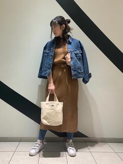 札幌パセオ店のChihiroさんのLeeのSTANDARD WARDROBE RIDERS デニムジャケットを使ったコーディネート