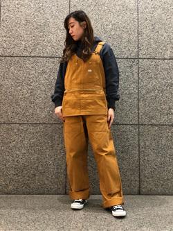 札幌パセオ店のChihiroさんのLeeのエプロンオーバーオールを使ったコーディネート