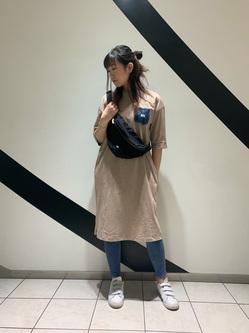 札幌パセオ店のChihiroさんのLeeの終了【再値下げ!サマーセール】デニムポケットワンピースを使ったコーディネート