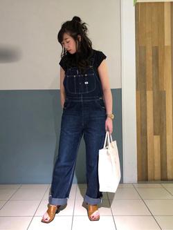 札幌パセオ店のChihiroさんのLeeの【シークレットセーール!!】【直営店&WEB限定】キャップスリーブカットソーを使ったコーディネート
