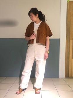 札幌パセオ店のChihiroさんのLeeの終了【再値下げ!サマーセール】ルーズフィットシャツ 半袖を使ったコーディネート