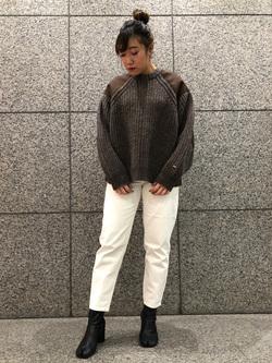札幌パセオ店のChihiroさんのLeeのミリタリー パッチワークセーターを使ったコーディネート