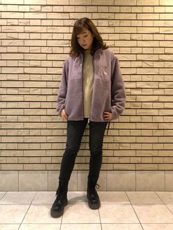 札幌パセオ店のChihiroさんのLeeの【Winter sale】【ユニセックス】フリースジップアップジャケットを使ったコーディネート
