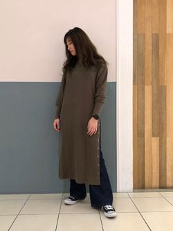 札幌パセオ店のChihiroさんのLeeのサーマルロングドレスを使ったコーディネート