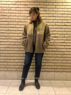 札幌パセオ店のChihiroさんのLeeの【ユニセックス】フリースジップアップジャケットを使ったコーディネート
