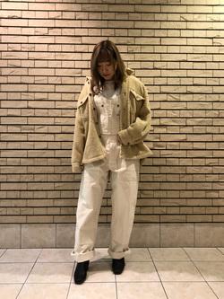 札幌パセオ店のChihiroさんのLeeの終了【Winter sale】【着回し力抜群】ビッグフィット長袖カットソーを使ったコーディネート
