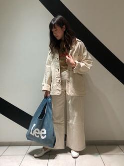 札幌パセオ店のChihiroさんのLeeのカバーオールジャケットを使ったコーディネート