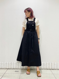 札幌パセオ店のChihiroさんのLeeの【Lee×GRAMICCI(グラミチ)】バックプリント 半袖Tシャツを使ったコーディネート