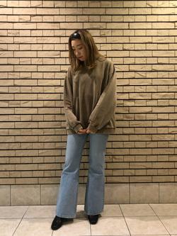 札幌パセオ店のChihiroさんのLeeの終了【SALE】クルーネックスウェット/トレーナーを使ったコーディネート