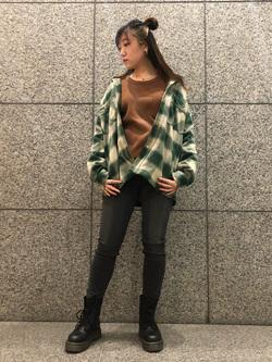 札幌パセオ店のChihiroさんのLeeの【さらっと羽織れる】シャツジャケットを使ったコーディネート