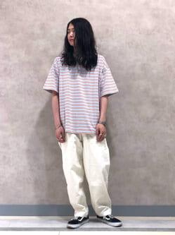Lee 名古屋店のTakayaさんのLeeの【再値下げSALE】マルチボーダー 半袖Tシャツを使ったコーディネート