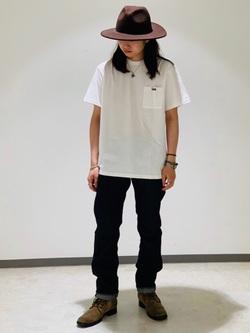 Lee 名古屋店のTakayaさんのLeeの終了【サマーセール】【男女兼用】バックプリントTシャツ半袖1を使ったコーディネート