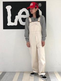 Lee 名古屋店のTakayaさんのLeeの【ガレージセール】【オーガニックコットン素材】ワッフル ベーシック長袖Tシャツを使ったコーディネート