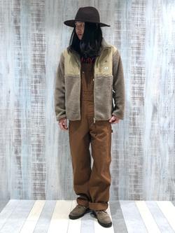 Lee 名古屋店のTakayaさんのLeeの【ユニセックス】フリースジップアップジャケットを使ったコーディネート