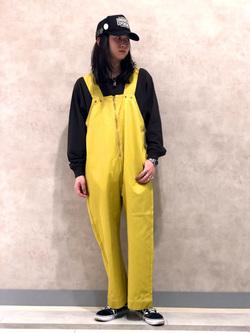 Lee 名古屋店のTakayaさんのLeeの【限定カラー】【ユニセックス】バルーンサロペット/オーバーオールを使ったコーディネート