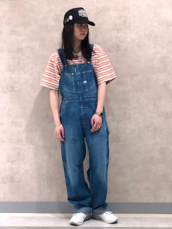Lee 名古屋店のTakayaさんのLeeのマルチボーダー 半袖Tシャツを使ったコーディネート