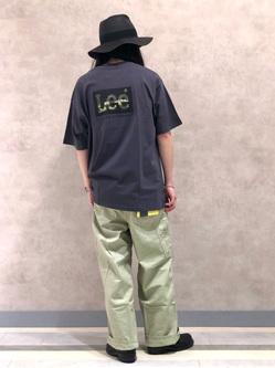 Lee 名古屋店のTakayaさんのLeeの【SALE】【軽くて涼しい】リラックス ペインターパンツを使ったコーディネート