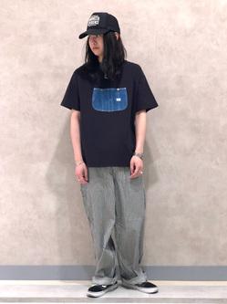Lee 名古屋店のTakayaさんのLeeのオーバーオールポケット 半袖Tシャツを使ったコーディネート