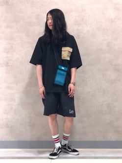 Lee 名古屋店のTakayaさんのLeeの【再値下げSALE】ラグラン ポケット配色Tシャツを使ったコーディネート