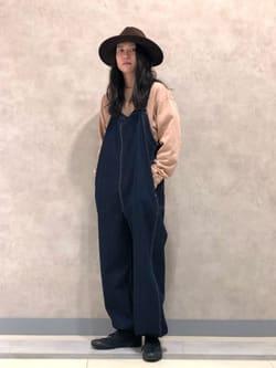 Lee 名古屋店のTakayaさんのLeeの【ユニセックス】ミニロゴ刺繍 クルーネックスウェットを使ったコーディネート