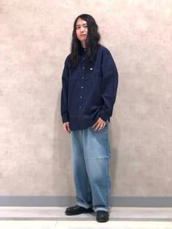 Lee 名古屋店のTakayaさんのLeeのSUPERSIZED ストレートデニムパンツを使ったコーディネート