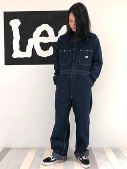 Lee 名古屋店のTakayaさんのLeeの【男女兼用】DUNGAREES UNION-ALLS/つなぎ/ジャンプスーツ/オールインワンを使ったコーディネート