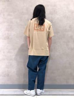 Lee 名古屋店のTakayaさんのLeeの【SALE】【ストレスフリーな穿き心地】ラクして決まる イージーワイドパンツを使ったコーディネート
