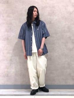 Lee 名古屋店のTakayaさんのLeeの【TOPS 15%OFFクーポン対象】【SALE】【鹿の子素材】ワンポイント 半袖Tシャツを使ったコーディネート