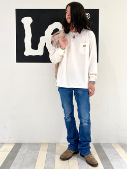 名古屋店のTakayaさんのLeeの【感謝祭15%OFFクーポン対象】チェックオープンカラー 長袖を使ったコーディネート