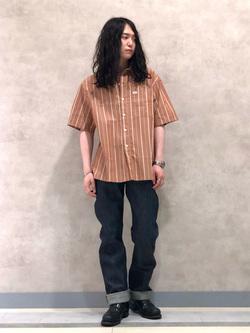 Lee 名古屋店のTakayaさんのLeeのボックスフィット 半袖シャツを使ったコーディネート