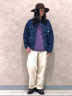 Lee 名古屋店のTakayaさんのLeeの【軽くて涼しい】ライトウエイト エンジニアジャケット/デニムジャケットを使ったコーディネート