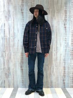 Lee 名古屋店のTakayaさんのLeeのAMERICAN RIDERS 202 ベルボトムジーンズを使ったコーディネート