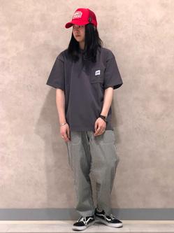 Lee 名古屋店のTakayaさんのLeeの【ストレスフリーな穿き心地】ラクして決まる イージーワイドパンツを使ったコーディネート
