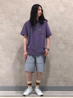 Lee 名古屋店のTakayaさんのLeeの【SALE】【ユニセックス】ワンポイントロゴ刺繍 半袖Tシャツを使ったコーディネート