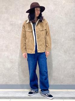 Lee 名古屋店のTakayaさんのLeeのBOA STORM RIDER ジャケット【コーデュロイ】を使ったコーディネート