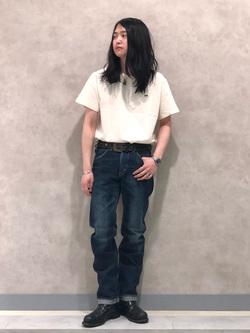 Lee 名古屋店のTakayaさんのLeeの【試着対象】【期間限定10%OFF】AMERICAN RIDERS 101Z ストレートジーンズを使ったコーディネート